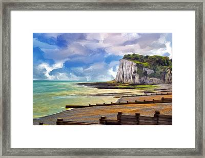 St. Margaret's Bay At Dover Framed Print by Dominic Piperata