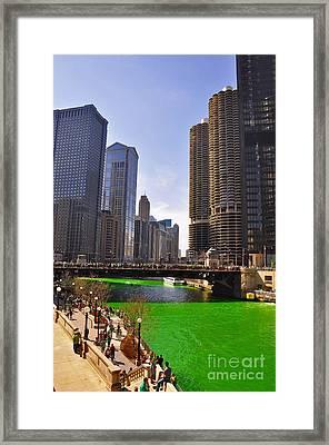 St Patrick's Day Chicago Framed Print by Dejan Jovanovic