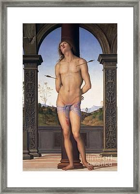 St Sebastian Framed Print by Pietro Perugino