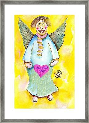St. Valentine's Angel Framed Print by Ion vincent DAnu