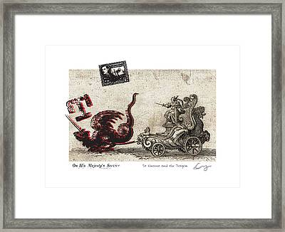 St Vincent And The Dragon Framed Print by Chrystle Wolff