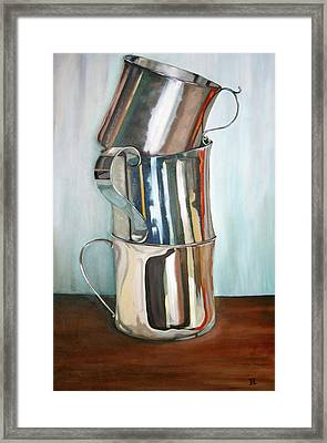 Stacking Them Up Framed Print by Amy Higgins