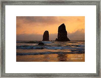 Stacks Of Gold Framed Print by Mike  Dawson