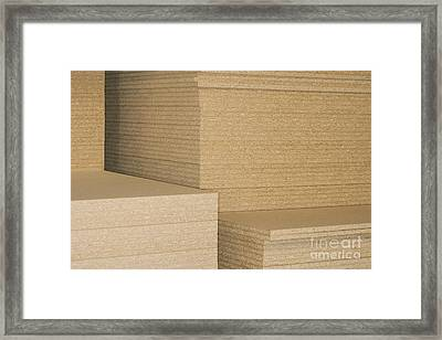 Stacks Of Plywood Framed Print by Shannon Fagan