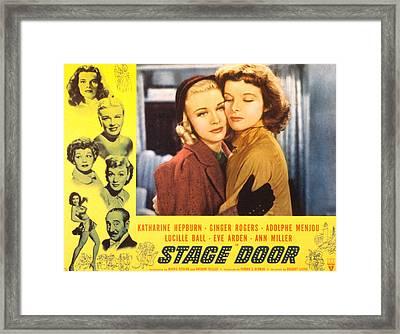 Stage Door, Ginger Rogers, Katharine Framed Print by Everett