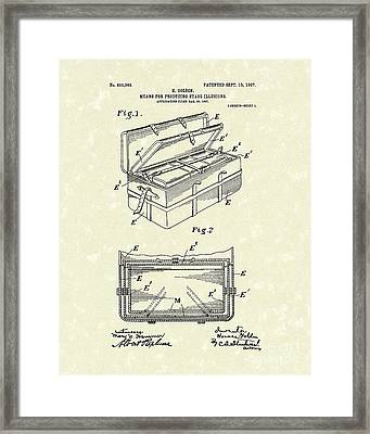 Stage Illusions 1907 Patent Art Framed Print by Prior Art Design
