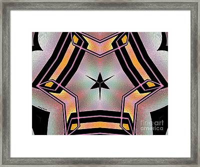 Stained Glass 4 Framed Print by Cheryl Young