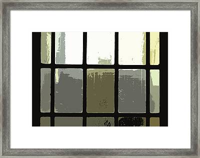Stained Glass Doors 2 Framed Print by Peter  McIntosh