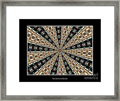 Stained Glass Kaleidoscope 39 Framed Print by Rose Santuci-Sofranko