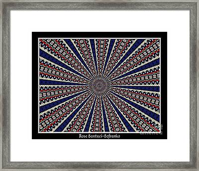 Stained Glass Kaleidoscope 49 Framed Print by Rose Santuci-Sofranko