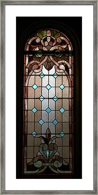 Stained Glass Lc 15 Framed Print by Thomas Woolworth