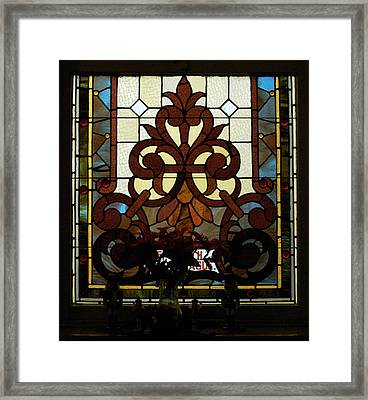 Stained Glass Lc 16 Framed Print by Thomas Woolworth