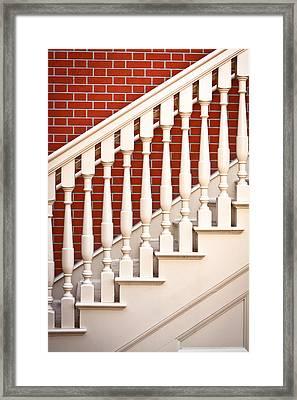 Stair Case Framed Print by Tom Gowanlock