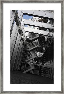 Stairs Fuji Building Framed Print by Naxart Studio