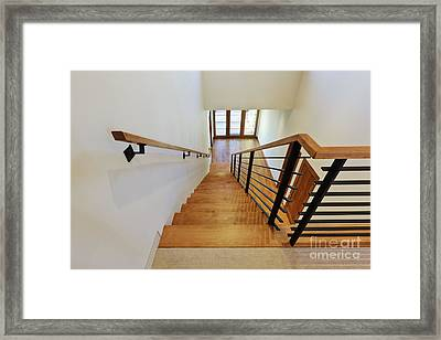 Stairs In A Modern Home Framed Print by Jeremy Woodhouse
