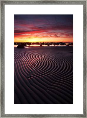 Stairs Of Sand Framed Print by Andrei Reinol landscapes