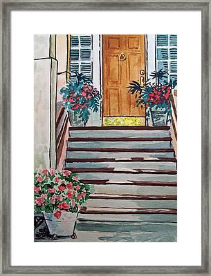 Stairs Sketchbook Project Down My Street Framed Print by Irina Sztukowski