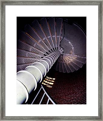 Stairs To The Light Framed Print by Skip Willits