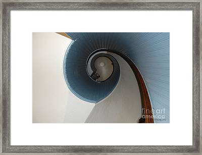 Stairway To The Past Framed Print by Susan Stevens Crosby
