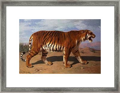 Stalking Tiger Framed Print by Rosa Bonheur