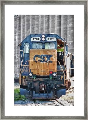 Stalled 7141 Framed Print by Guy Whiteley