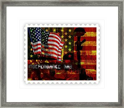 Stamp Your Freedom  Framed Print by Fania Simon