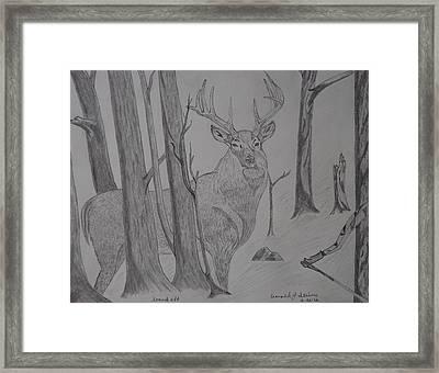 Stand Off Framed Print by Gerald Strine