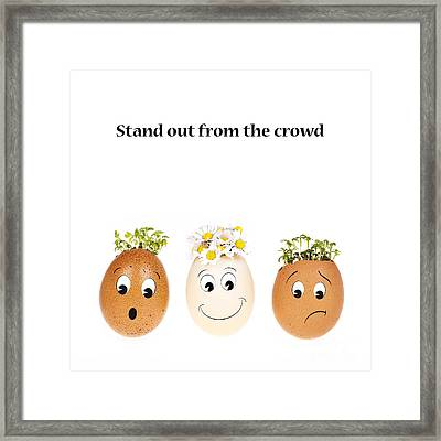 Stand Out From The Crowd Framed Print by Jane Rix