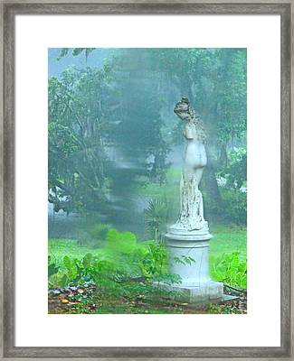 Standing In The Rain Framed Print by Mindy Newman