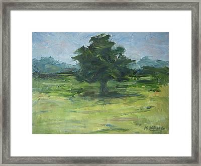 Standing Tree Framed Print by Ken Krug