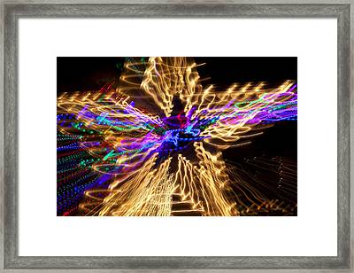 Star Abstract Framed Print by Garry Gay