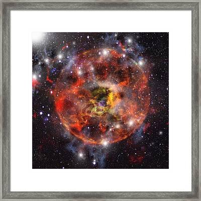 Star Formation, Computer Artwork Framed Print by Mehau Kulyk