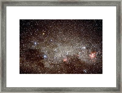 Starfield With The Constellations Of Crux & Carina Framed Print by Dr Fred Espenak