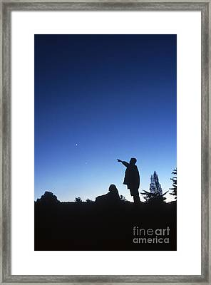 Stargazing Framed Print by Science Source