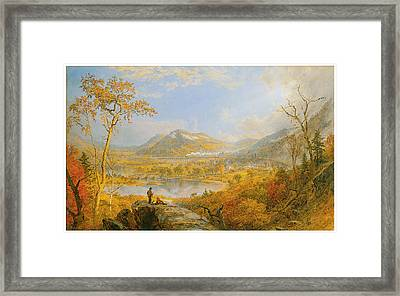 Starracca Viaduct Framed Print by Jasper Francis Cropsey