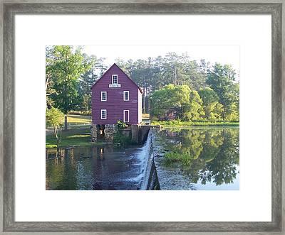 Starr's Mill Georgia Summer Morn Framed Print by Jake Hartz