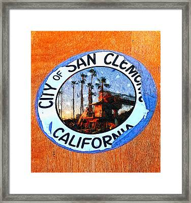 Starry Night In San Clemente Framed Print by Ron Regalado