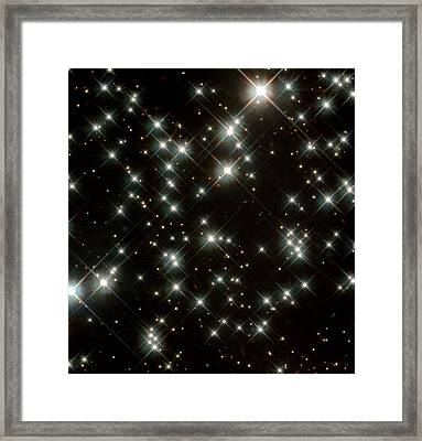 Stars In M4 Globular Cluster Framed Print by Nasaesastscih.richer,ubc