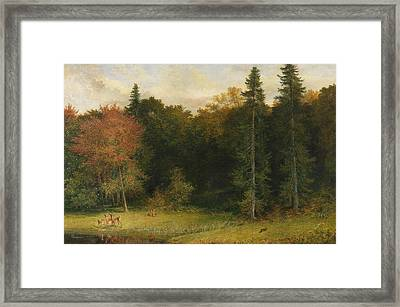 Startled Foresters Framed Print by Richard Redgrave