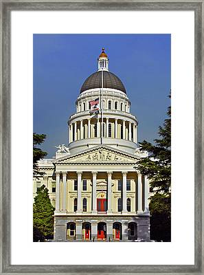 State Capitol Building Sacramento California Framed Print by Christine Till
