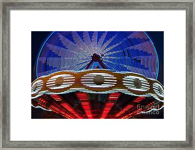 State Fair Rides At Night IIi Framed Print by Clarence Holmes