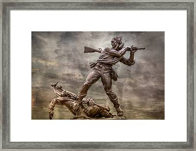 State Of Mississippi Monument At Gettysburg  Framed Print by Randy Steele