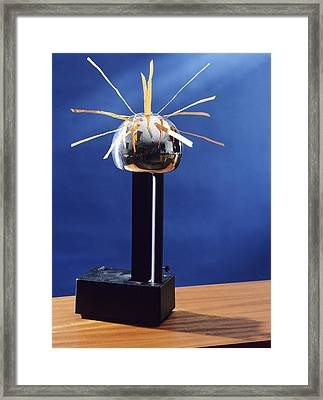 Static Electricity Framed Print by Andrew Lambert Photography