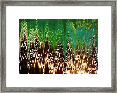 Static Frequency Framed Print by Ginny Schmidt