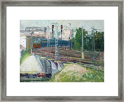 Station Near To Moscow Framed Print by Juliya Zhukova