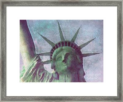 Statue Of Liberty Framed Print by Angela Doelling AD DESIGN Photo and PhotoArt