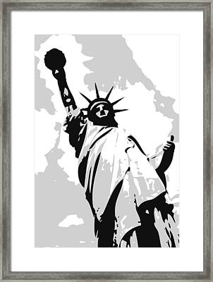 Statue Of Liberty Bw3 Framed Print by Scott Kelley