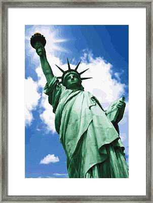 Statue Of Liberty Color 64 Framed Print by Scott Kelley