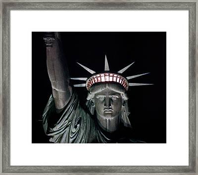 Statue Of Liberty Framed Print by David Pringle
