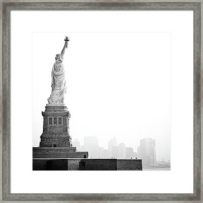 Statue Of Liberty Framed Print by Image - Natasha Maiolo